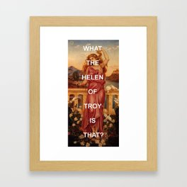 Triple Helen Framed Art Print