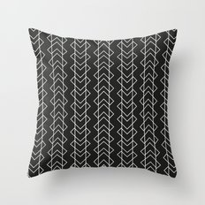 Black White Throw Pillow