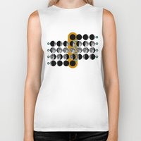 moon phases Biker Tanks featuring The Moon phases by tuditees