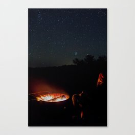 Portrait of a camper Canvas Print