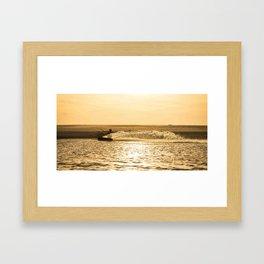 Kitesurfer At Sunset Framed Art Print