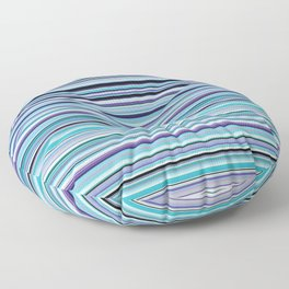 Old Skool Stripes - Sea Foam - Horizontal Floor Pillow