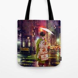 Geisha in Modern Japan Tote Bag