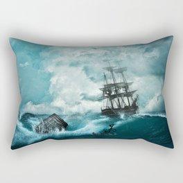 Shipwreck in storm Rectangular Pillow