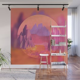 Woah, Pink Mountains Wall Mural