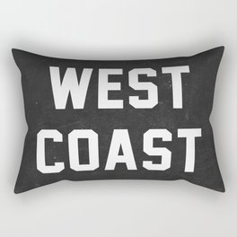 West Coast - black version Rectangular Pillow