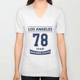 Los Angeles 78 Golden State Unisex V-Neck