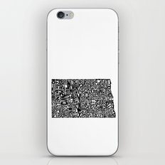 Typographic North Dakota iPhone & iPod Skin