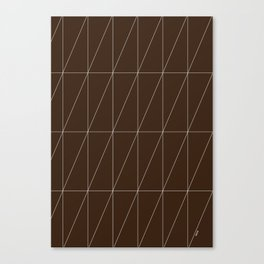 Brown Triangles by Friztin Canvas Print