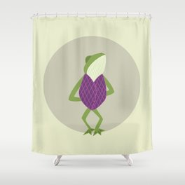 Fred the Frog Shower Curtain