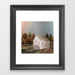 Forget about your house of cards Framed Art Print