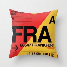 FRA Frankfurt Luggage Tag 2 Throw Pillow