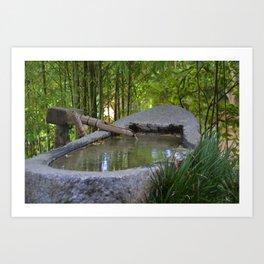 Zen in the Garden Art Print