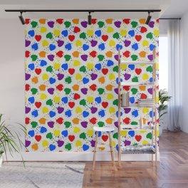 Rainbow hearts for everyone Wall Mural