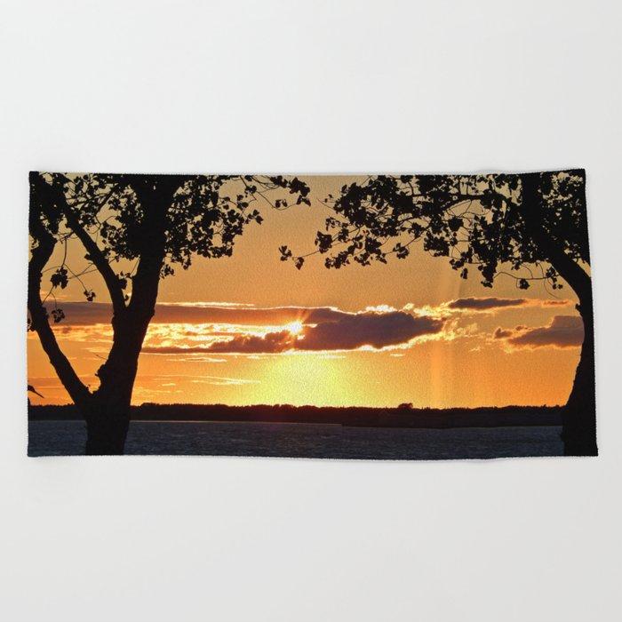 Sunset on Summerside Beach Towel