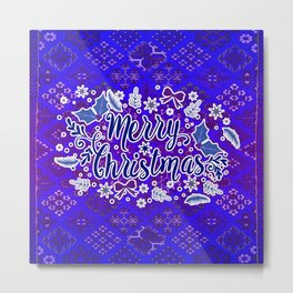 -A31- Merry Christmas Traditional Style. Metal Print