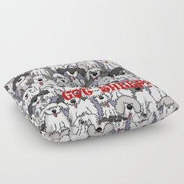 Original Sheepdogs On Watch Floor Pillow