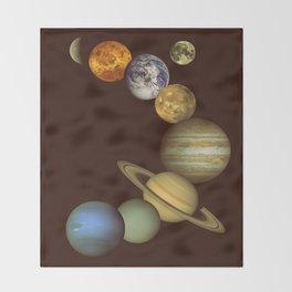The Solar System Throw Blanket