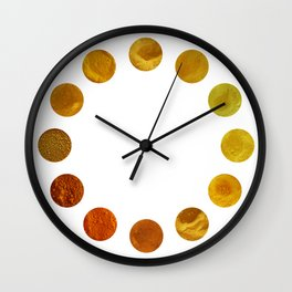 Yellow Pigments Wall Clock