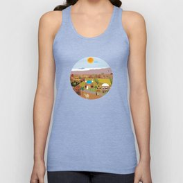 Peaceful Arab village In the desert Unisex Tank Top
