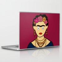 frida kahlo Laptop & iPad Skins featuring Frida Kahlo by evannave
