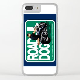 Road Dog Road Sign Clear iPhone Case