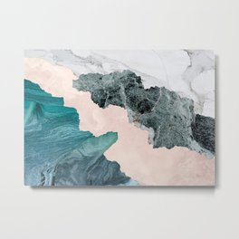 Flooded Marble Metal Print