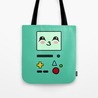 bmo Tote Bags featuring BMO by Janice Wong