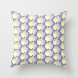 Easter eggs pattern on purple Throw Pillow