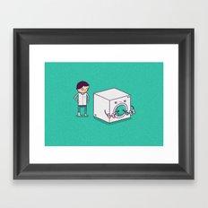Secret Habit Framed Art Print