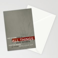 Romans 8:28 Stationery Cards