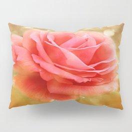 Elegant Golden Rose Glow Pillow Sham