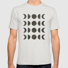 Moon Phases - Black on Cream T-shirt