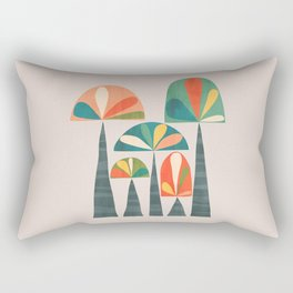 Quirky retro palm trees Rectangular Pillow