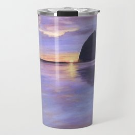 Sunset at Haystack Rock Travel Mug