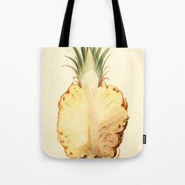 Pineapple Sliced in Half Vintage Illustration Tote Bag