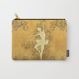 Beautiful golden ballerina  Carry-All Pouch