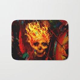 Hot skull Bath Mat