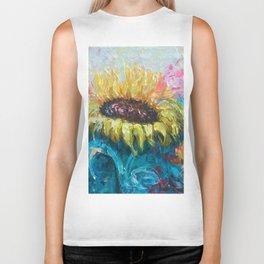 Sunny Flower by Lena Owens Biker Tank