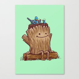 Good Day Log's Bird Nest Canvas Print