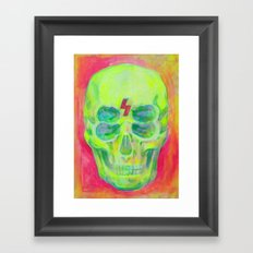 the 4i skull - acrylic on canvas Framed Art Print