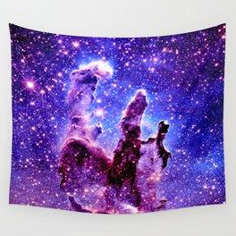 Galaxy Nebula : Pillars of Creation Purple Blue Wall Tapestry