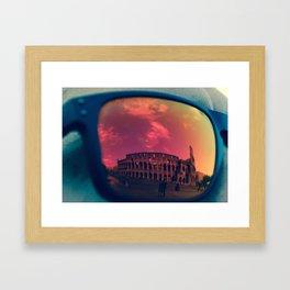 The Reflection of Gladiators  Framed Art Print