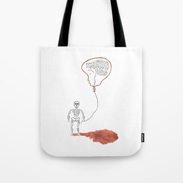 A Slow Unravel Tote Bag