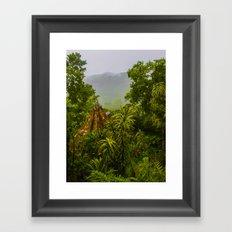 Mist Over Corcovado Framed Art Print