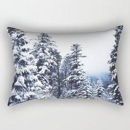 Snow Covered Trees Rectangular Pillow