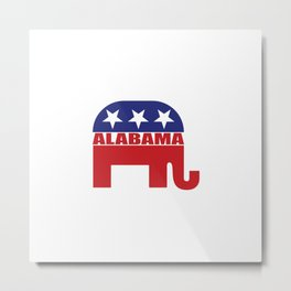 Alabama Republican Elephant Metal Print