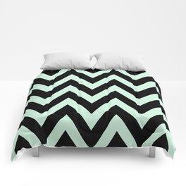 Mint & Black Chevron Comforters