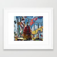 austin Framed Art Prints featuring Austin by JonezuArt