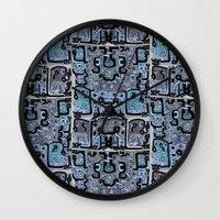 peru Wall Clocks featuring Old Peru by gtrapp